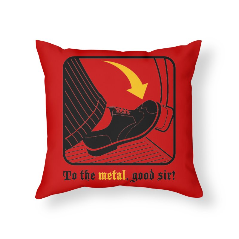 Push it Jeeves! Home Throw Pillow by mckibillo's Artist Shop