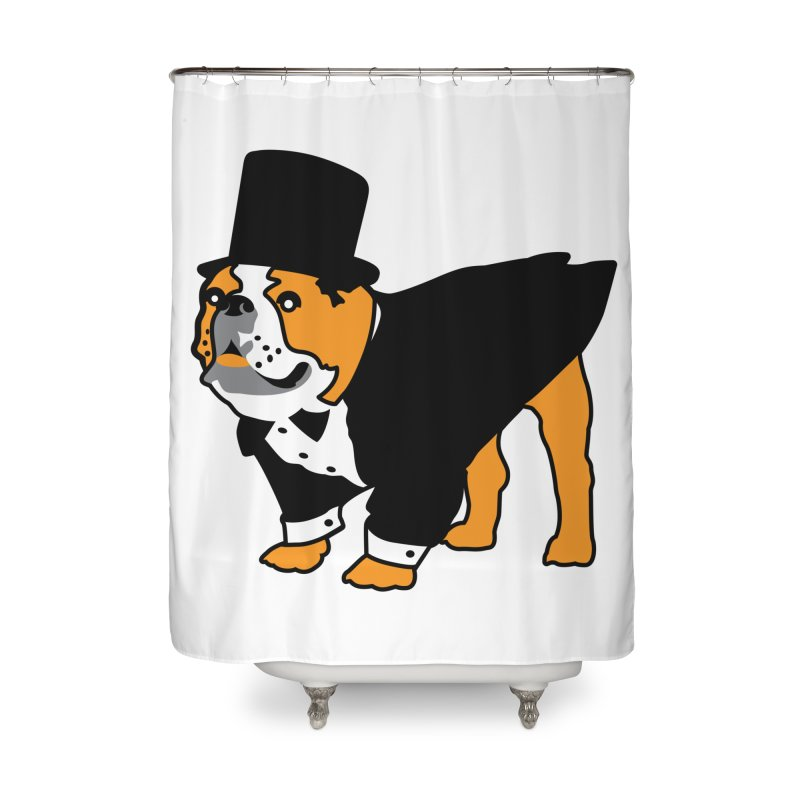 Top Dog Home Shower Curtain by mckibillo's Artist Shop