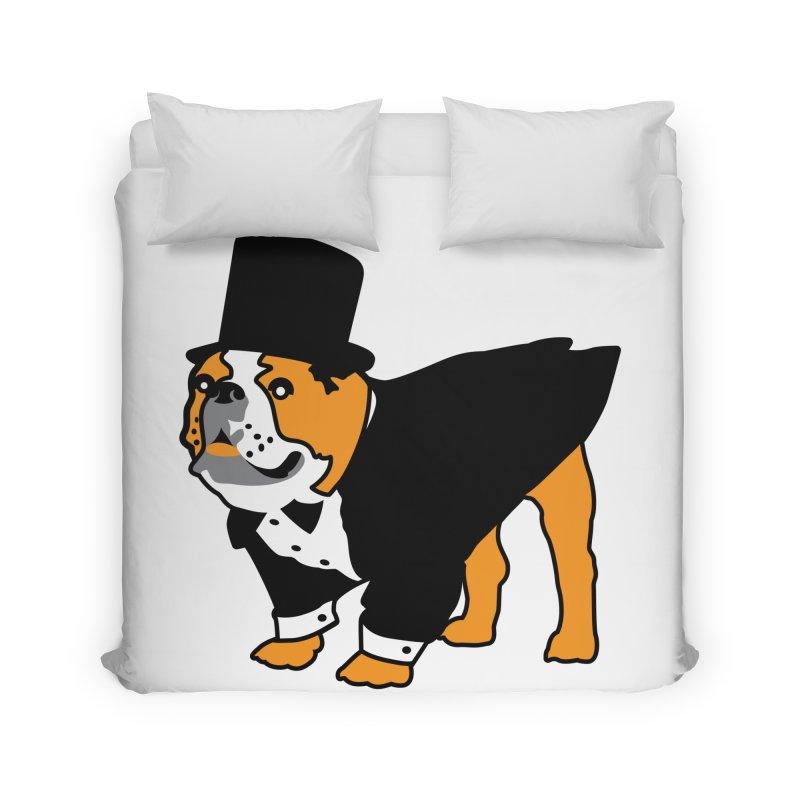 Top Dog Home Duvet by mckibillo's Artist Shop
