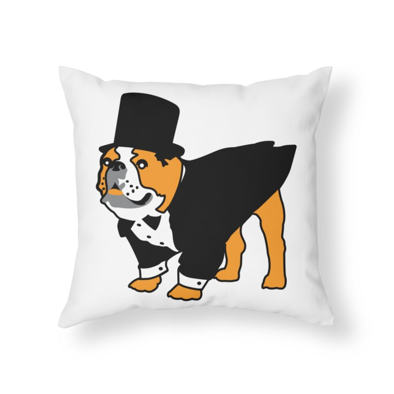 Top Dog Home Throw Pillow by mckibillo's Artist Shop