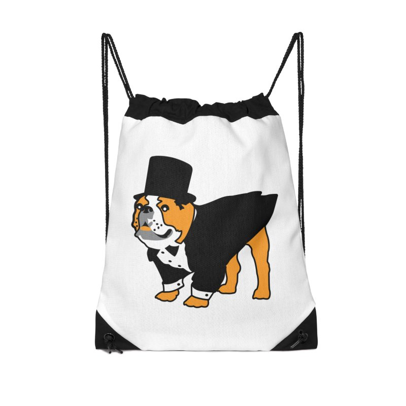 Top Dog Accessories Drawstring Bag Bag by mckibillo's Artist Shop
