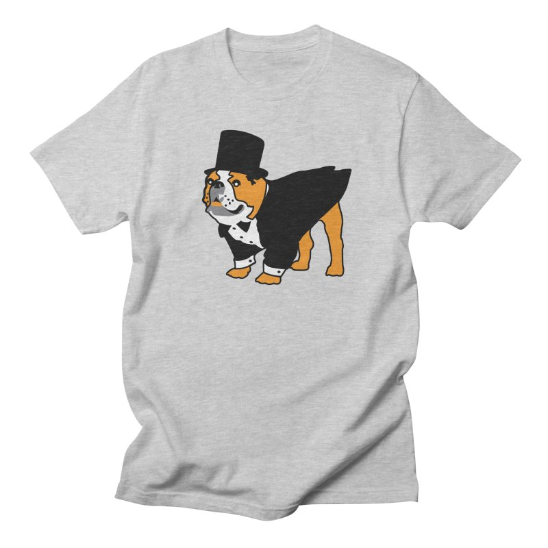 Top Dog in Men's Regular T-Shirt Heather Grey by mckibillo's Artist Shop