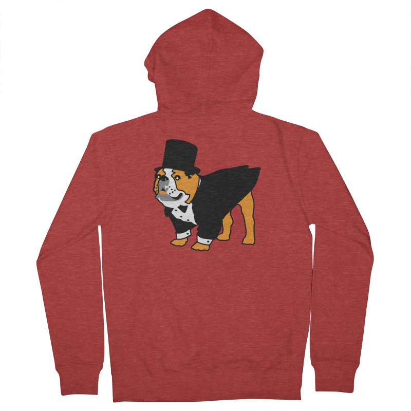 Top Dog Women's French Terry Zip-Up Hoody by mckibillo's Artist Shop