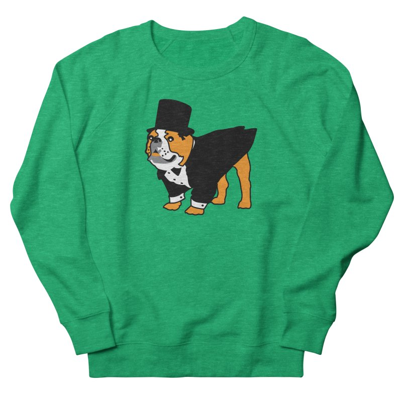 Top Dog Men's French Terry Sweatshirt by mckibillo's Artist Shop