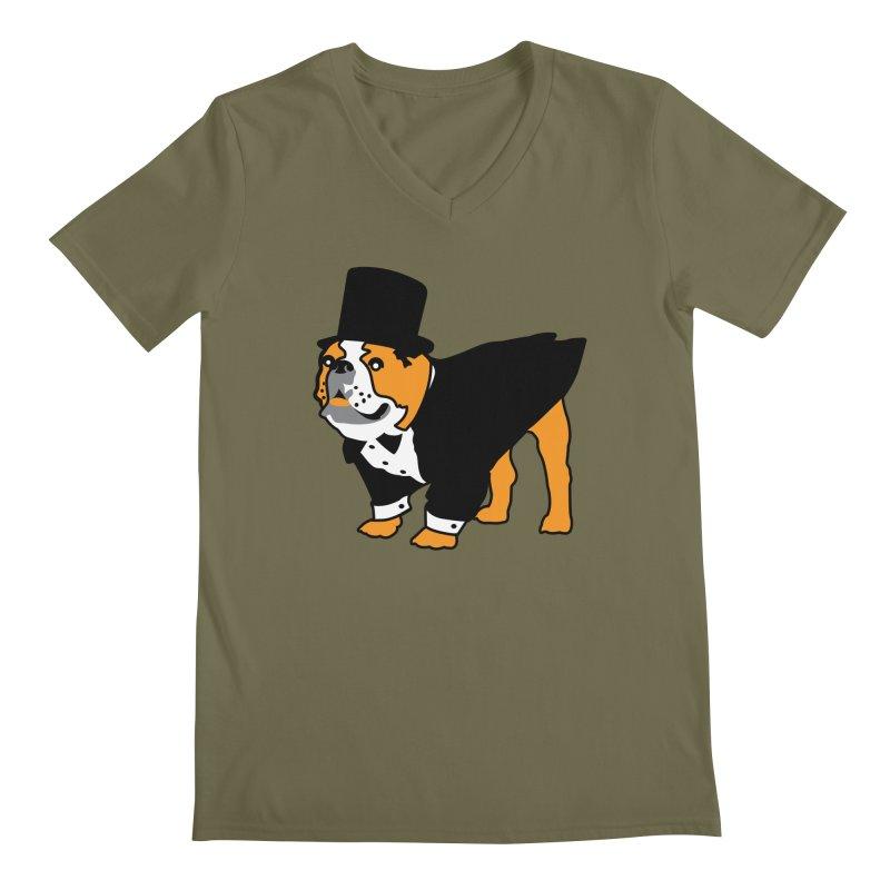 Top Dog Men's Regular V-Neck by mckibillo's Artist Shop
