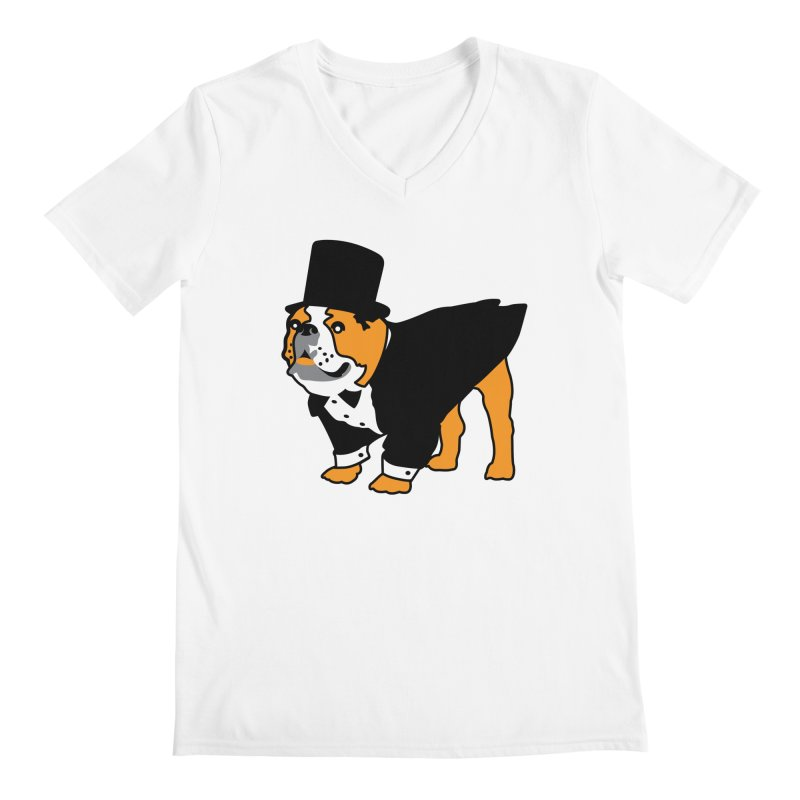 Top Dog Men's Regular V-Neck by mckibillo's Artist Shop