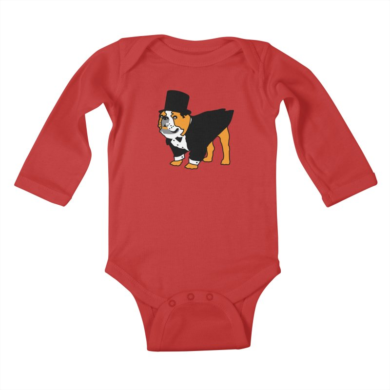 Top Dog Kids Baby Longsleeve Bodysuit by mckibillo's Artist Shop