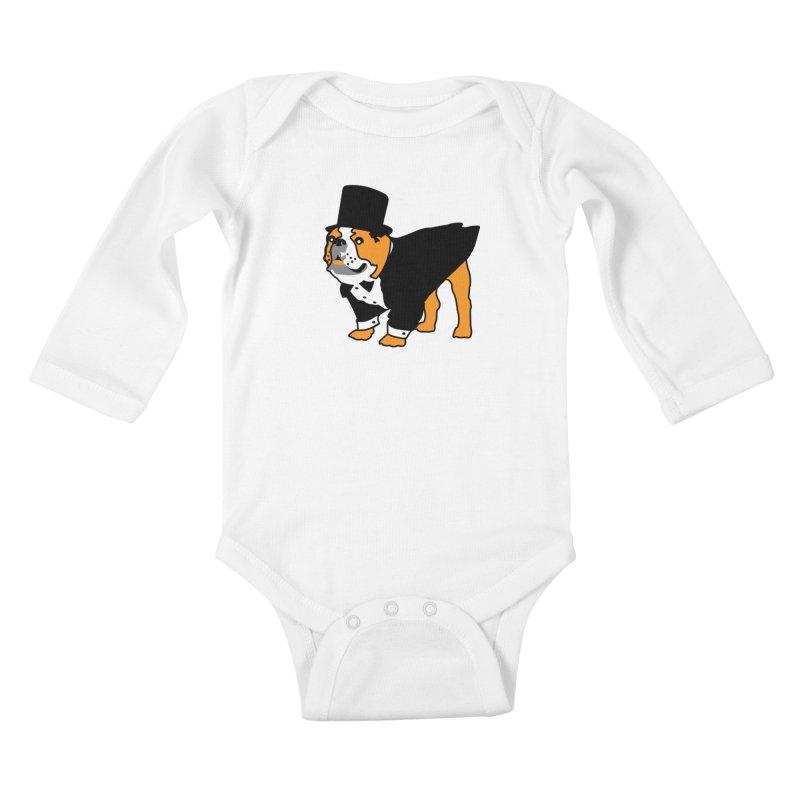 Top Dog Kids Baby Longsleeve Bodysuit by mckibillo's Artist Shop