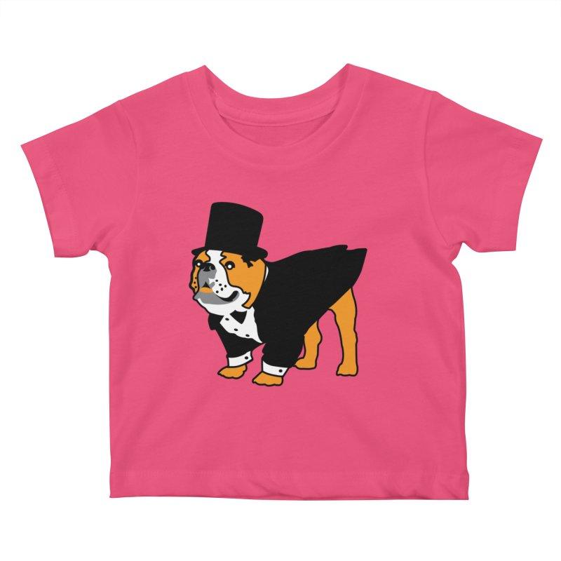Top Dog Kids Baby T-Shirt by mckibillo's Artist Shop