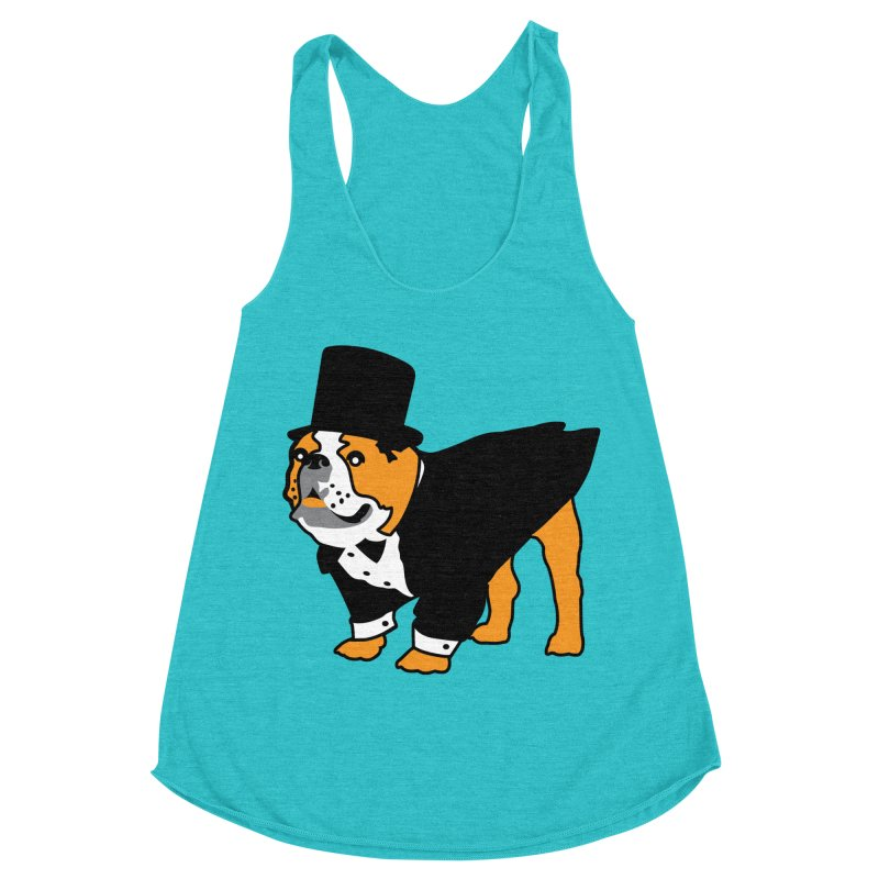 Top Dog Women's Racerback Triblend Tank by mckibillo's Artist Shop