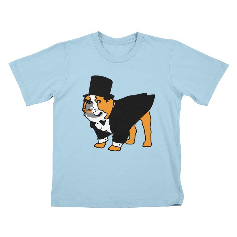 Top Dog Kids T-Shirt by mckibillo's Artist Shop