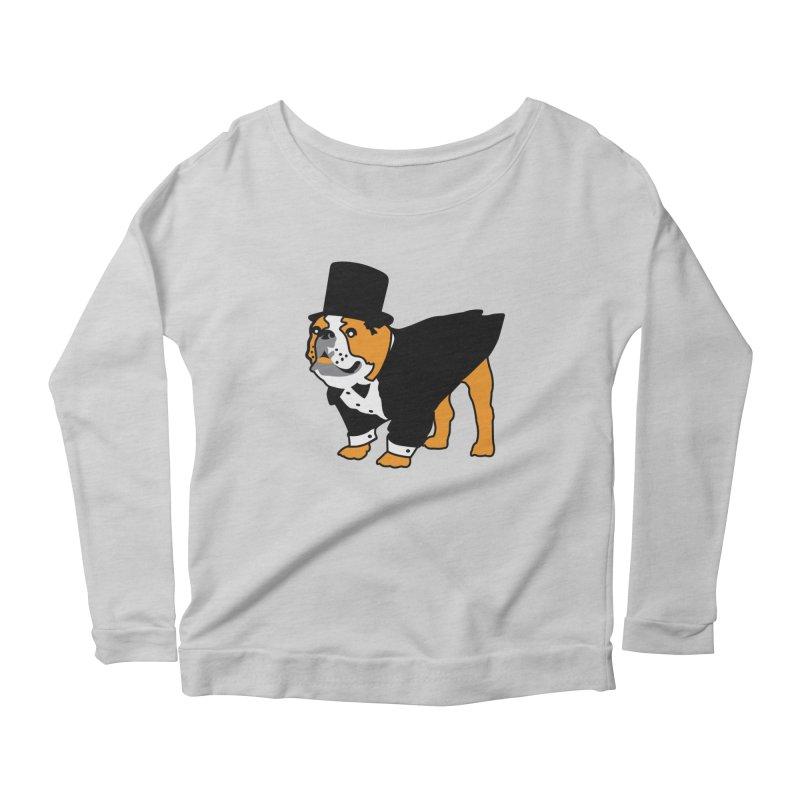 Top Dog Women's Scoop Neck Longsleeve T-Shirt by mckibillo's Artist Shop