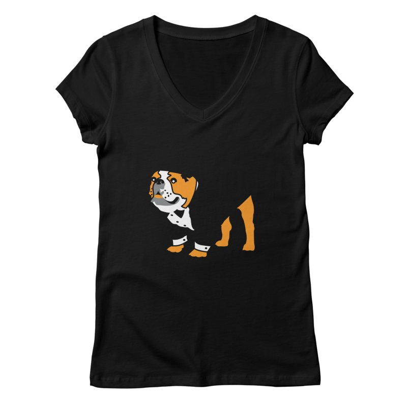Top Dog Women's V-Neck by mckibillo's Artist Shop