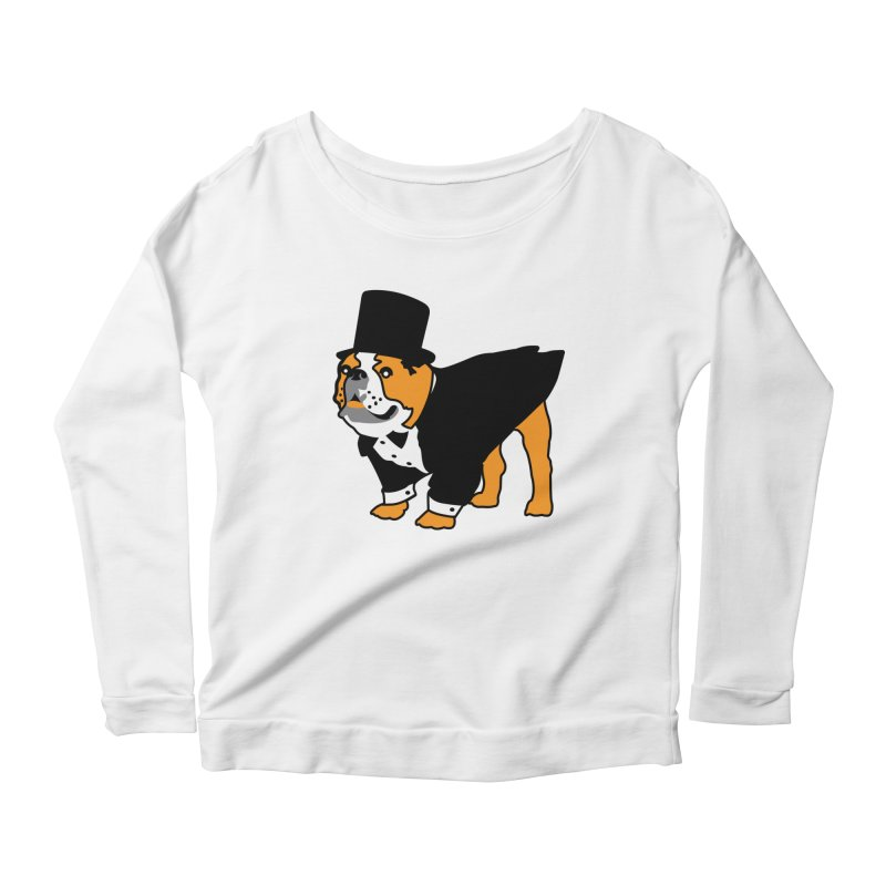 Top Dog Women's Scoop Neck Longsleeve T-Shirt by mckibillo's Artist Shop