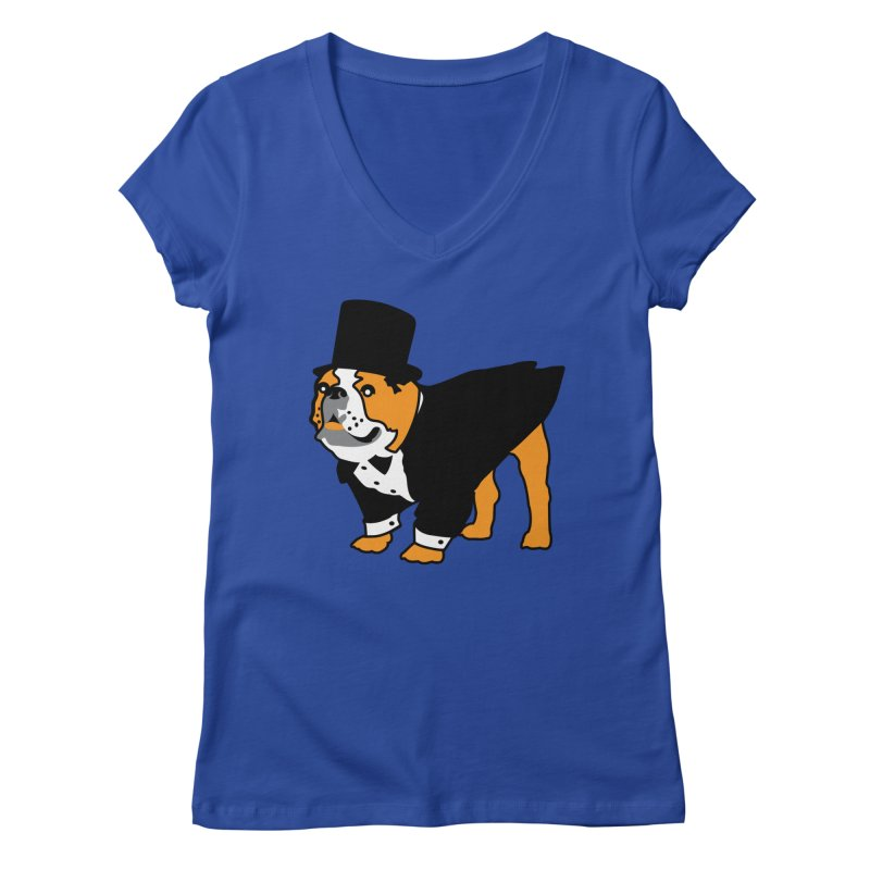 Top Dog Women's V-Neck by mckibillo's Artist Shop