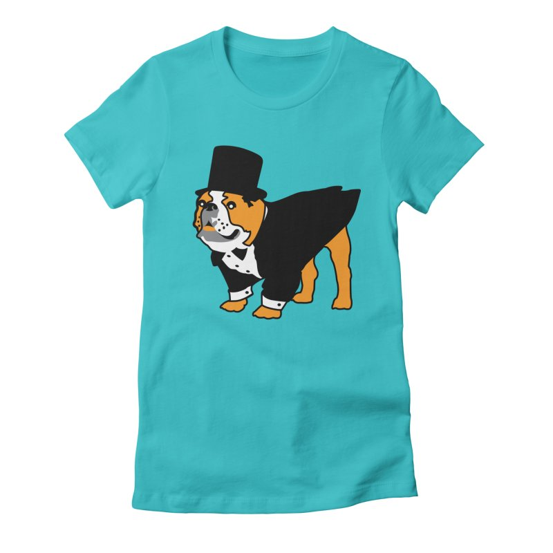 Top Dog Women's Fitted T-Shirt by mckibillo's Artist Shop