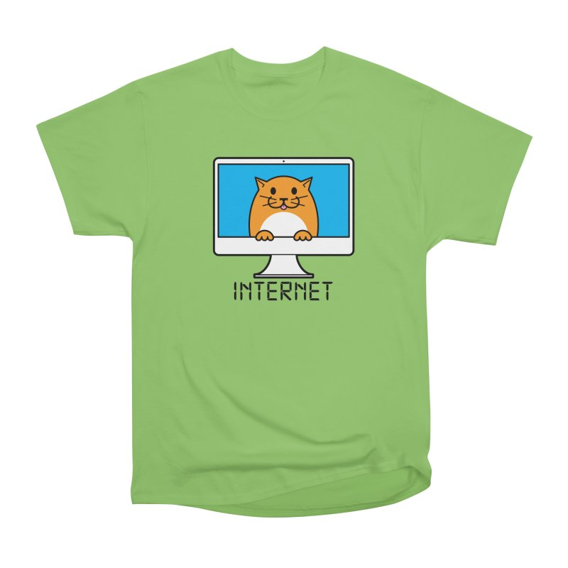 The Internet is made of Cats! Men's Heavyweight T-Shirt by mckibillo's Artist Shop