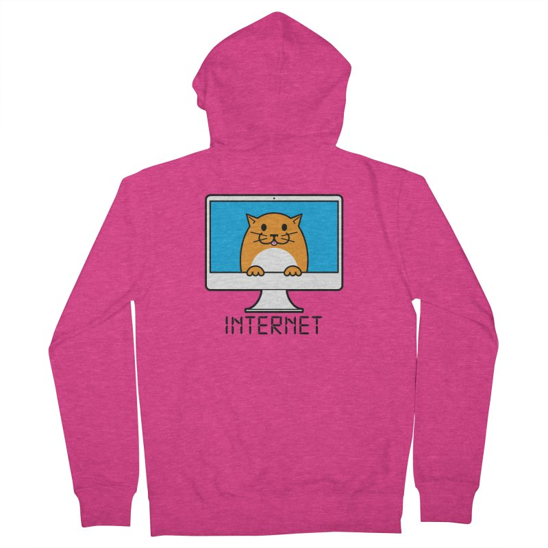 The Internet is made of Cats! Women's French Terry Zip-Up Hoody by mckibillo's Artist Shop