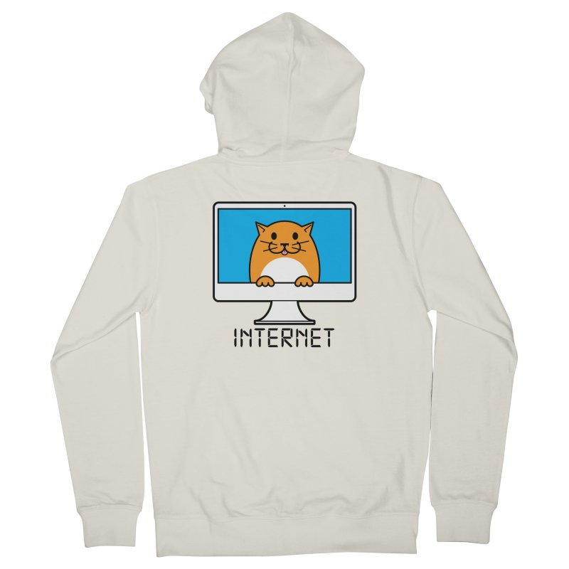 The Internet is made of Cats! Men's French Terry Zip-Up Hoody by mckibillo's Artist Shop