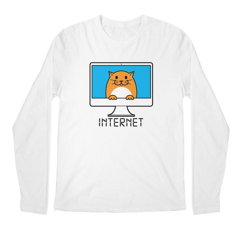 The Internet is made of Cats! Men's Regular Longsleeve T-Shirt by mckibillo's Artist Shop