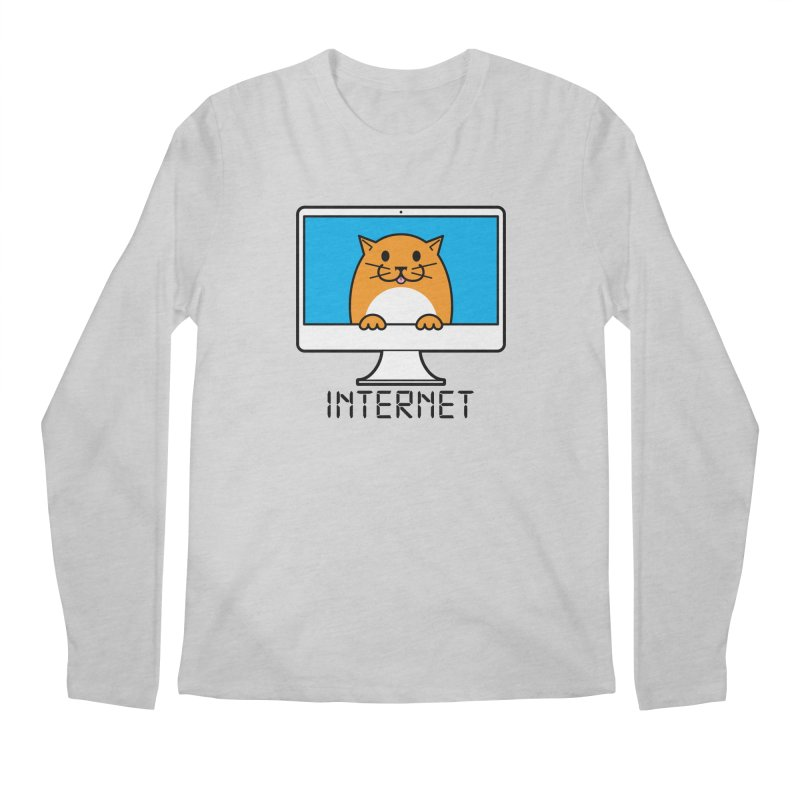 The Internet is made of Cats! Men's Regular Longsleeve T-Shirt by mckibillo's Artist Shop