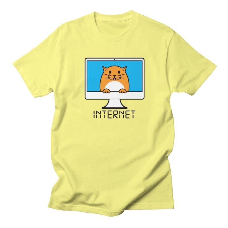 The Internet is made of Cats! Men's Regular T-Shirt by mckibillo's Artist Shop
