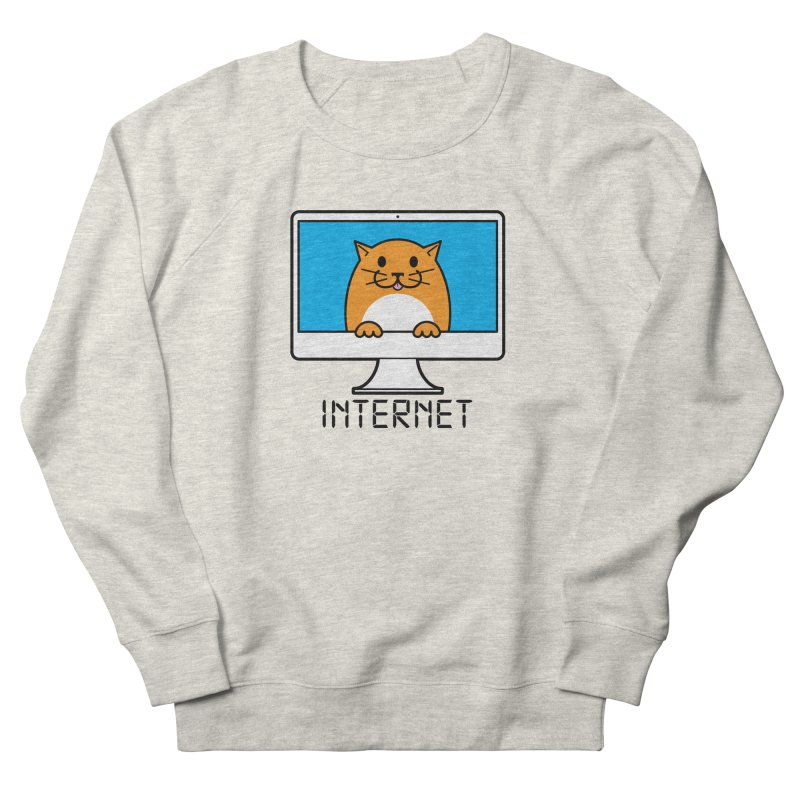 The Internet is made of Cats! Men's French Terry Sweatshirt by mckibillo's Artist Shop