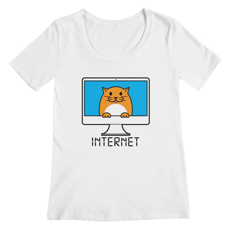 The Internet is made of Cats! Women's Scoopneck by mckibillo's Artist Shop