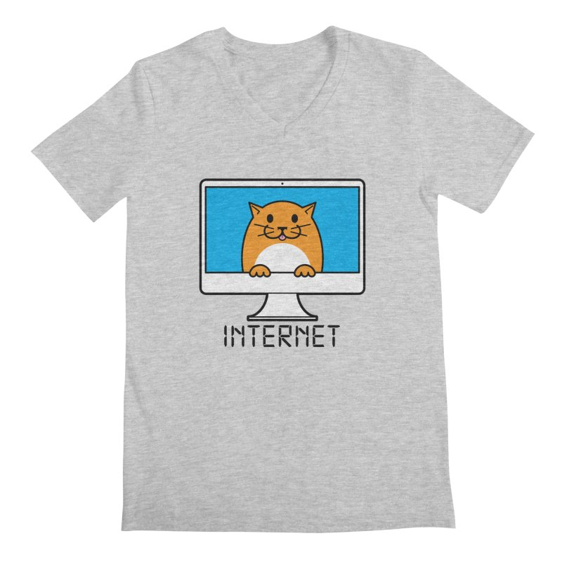 The Internet is made of Cats! Men's Regular V-Neck by mckibillo's Artist Shop