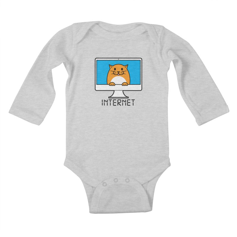 The Internet is made of Cats! Kids Baby Longsleeve Bodysuit by mckibillo's Artist Shop