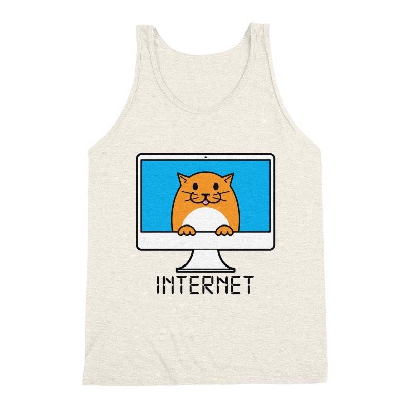 The Internet is made of Cats! Men's Triblend Tank by mckibillo's Artist Shop