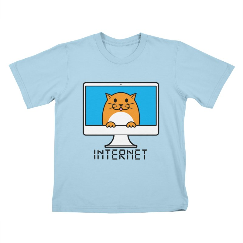 The Internet is made of Cats! in Kids T-Shirt Powder Blue by mckibillo's Artist Shop