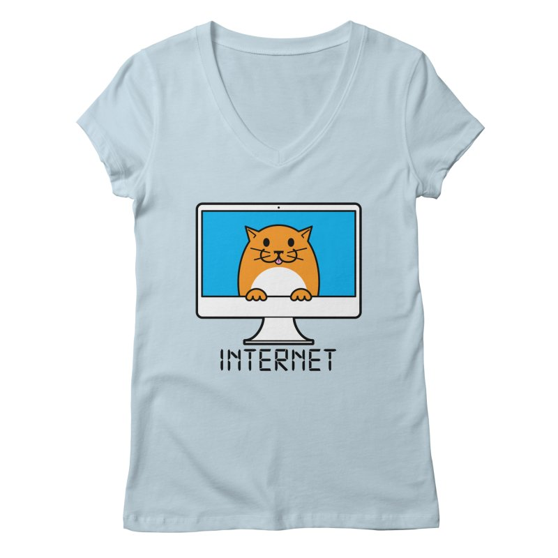 The Internet is made of Cats! Women's V-Neck by mckibillo's Artist Shop