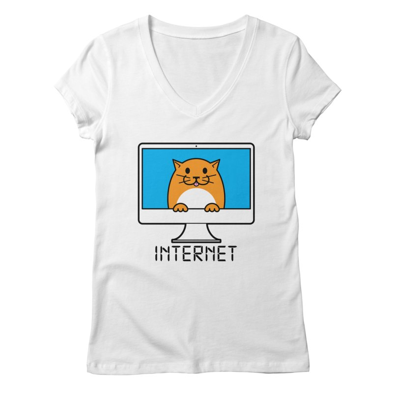 The Internet is made of Cats! Women's Regular V-Neck by mckibillo's Artist Shop
