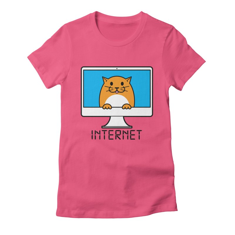 The Internet is made of Cats! Women's Fitted T-Shirt by mckibillo's Artist Shop