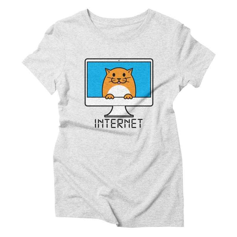 The Internet is made of Cats! Women's T-Shirt by mckibillo's Artist Shop