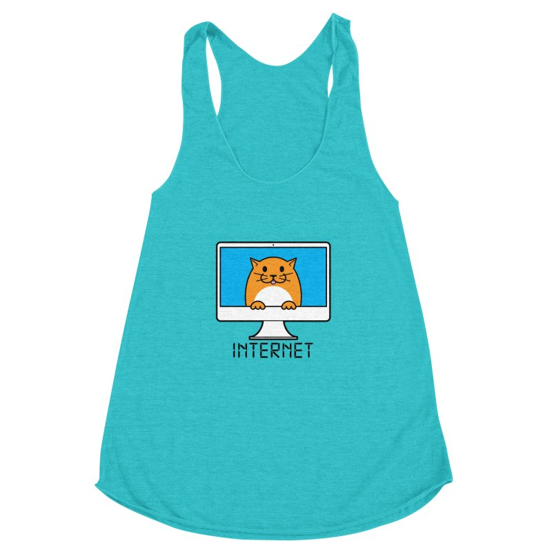 The Internet is made of Cats! Women's Racerback Triblend Tank by mckibillo's Artist Shop