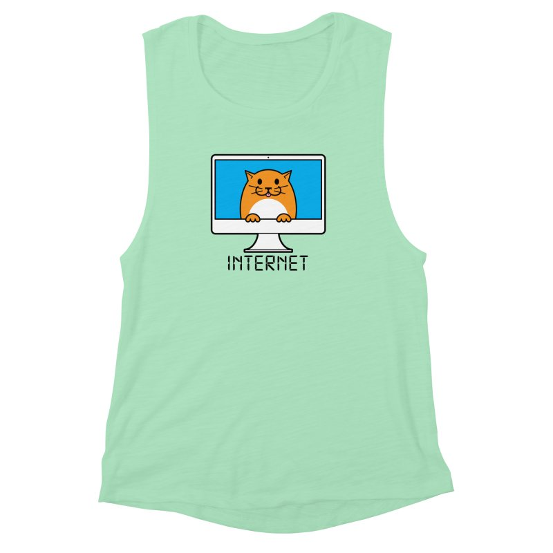 The Internet is made of Cats! Women's Muscle Tank by mckibillo's Artist Shop