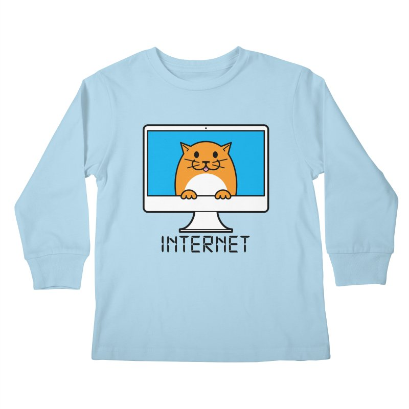 The Internet is made of Cats! Kids Longsleeve T-Shirt by mckibillo's Artist Shop