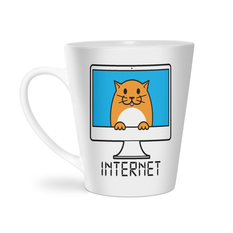 The Internet is made of Cats! Accessories Latte Mug by mckibillo's Artist Shop