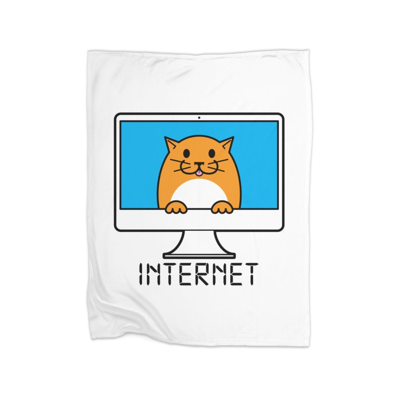 The Internet is made of Cats! Home Blanket by mckibillo's Artist Shop
