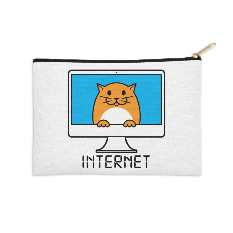 The Internet is made of Cats! Accessories Zip Pouch by mckibillo's Artist Shop