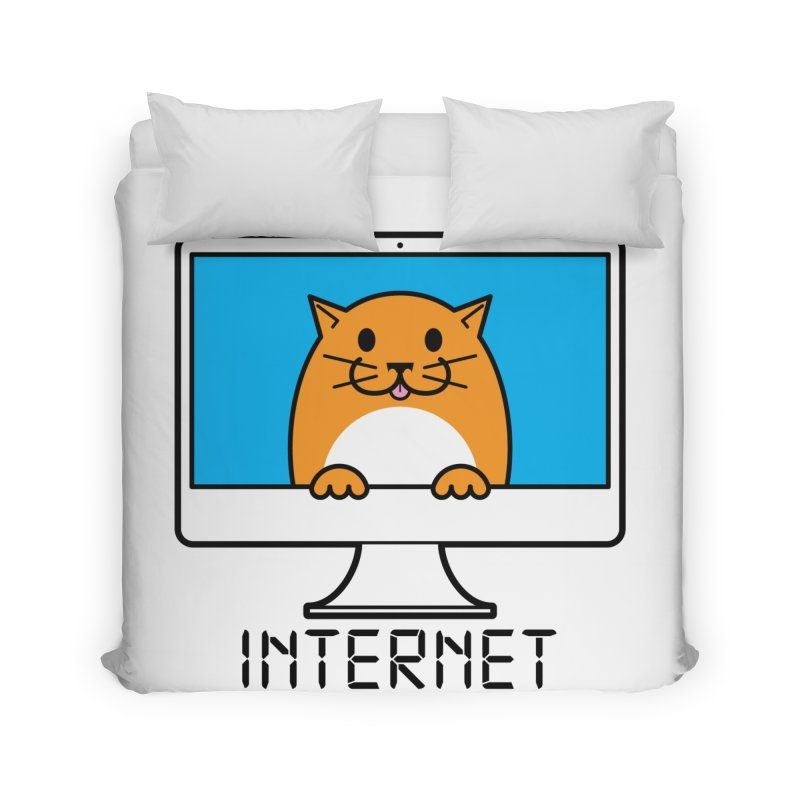 The Internet is made of Cats! Home Duvet by mckibillo's Artist Shop