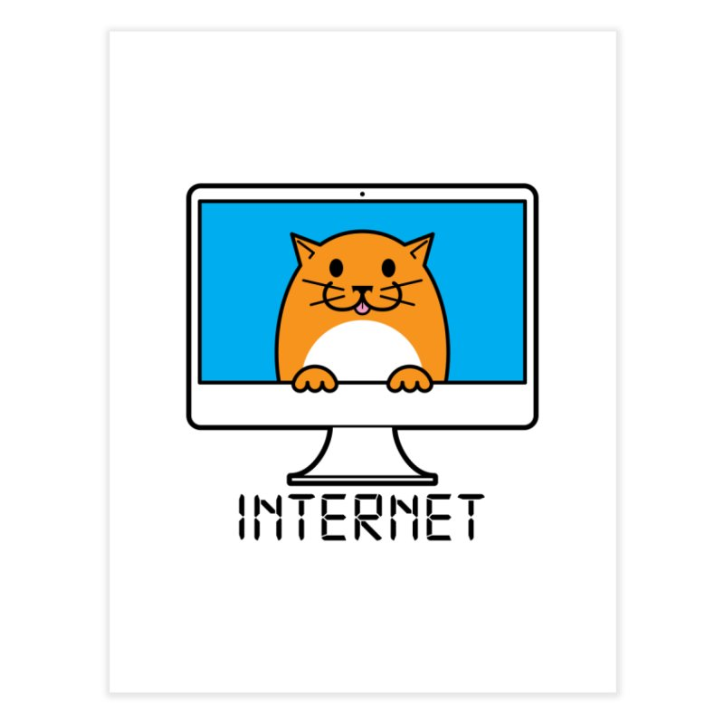 The Internet is made of Cats! Home Fine Art Print by mckibillo's Artist Shop