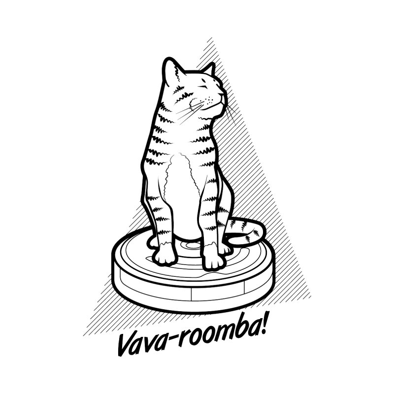 Vava-Roomba! Home Mounted Aluminum Print by mckibillo's Artist Shop