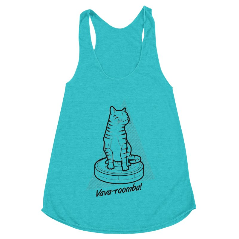 Vava-Roomba! Women's Racerback Triblend Tank by mckibillo's Artist Shop