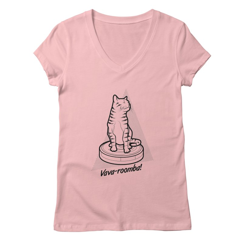 Vava-Roomba! Women's Regular V-Neck by mckibillo's Artist Shop