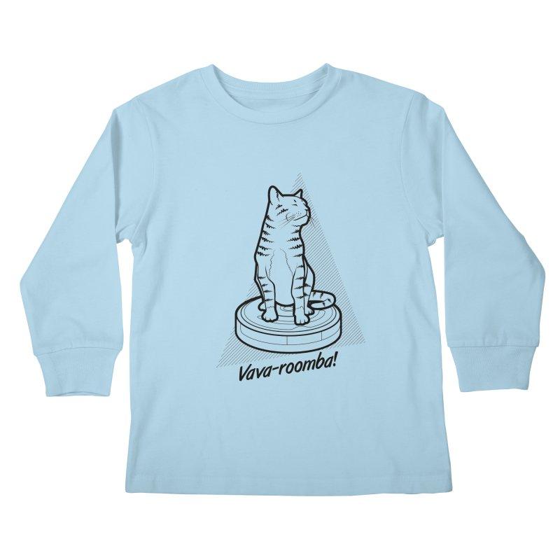 Vava-Roomba! Kids Longsleeve T-Shirt by mckibillo's Artist Shop
