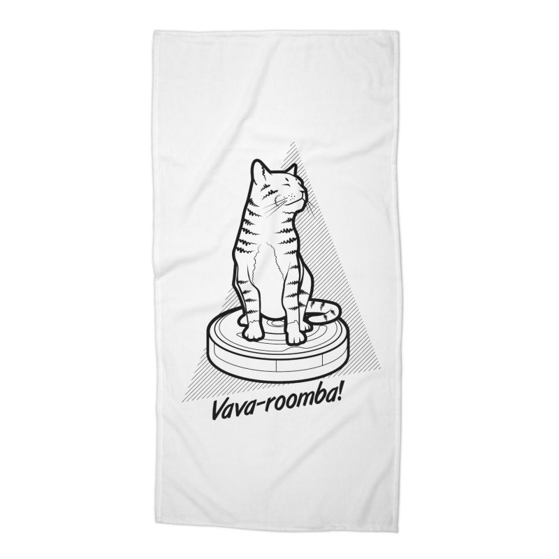 Vava-Roomba! Accessories Beach Towel by mckibillo's Artist Shop