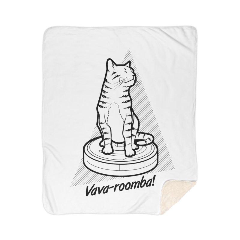 Vava-Roomba! Home Sherpa Blanket Blanket by mckibillo's Artist Shop